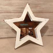 星型ミラー  スタンド  アンティークホワイト