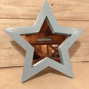 星型ミラー  スタンド  ライトブルー