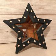 星型ミラー  スタンド  ブラック×星
