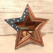 星型ミラー  スタンド  星条旗