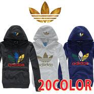 《大人気》Adidasアディダス ロゴパーカー 男女兼用 アディダス帽子 長袖 パーカー ジャケット レディース メンズ 20色 [ad-ht2]