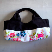 柄は画像通り!boat shape tote bag / stella black
