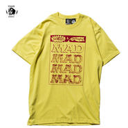PAWN(パーン)PAWN x MAD MAGAZINE MAD LOGO PACKAING TEE ホワイト/イエロー
