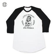 Cycle Zombies(サイクルゾンビーズ)RIM JOB Premium 3/4 Sleeve Raglan White/Black