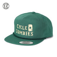 Cycle Zombies(サイクルゾンビーズ) GNAR CARD Golf Snapback Hat グリーン