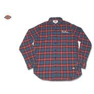 Dickies(ディッキーズ)綿ネルL/S刺繍入りチェックシャツ 143M20WD29