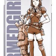 スマホハードケース ARMED GIRL Brown