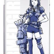 スマホハードケース ARMED GIRL Blue