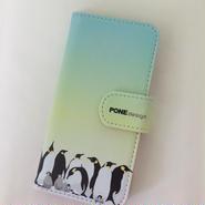 手帳型ケース Penguin Green