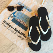Two Tone Wedges Black×White Juicy Style
