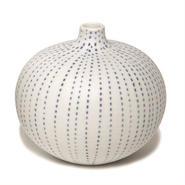 Bari vase blue dots(バリベース ブルードット)
