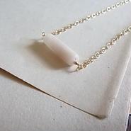 vintage tube&14kgf necklaces