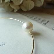 wire akoya pearl  bangles