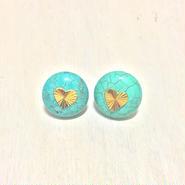 turquoise heart pierce