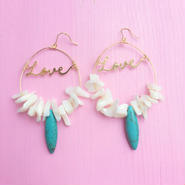 love×turquoise pierce