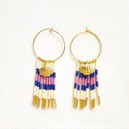 shell beads pierce-pink-