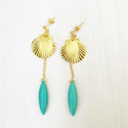 shell×turquoise pierce