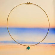 round amazonite necklace