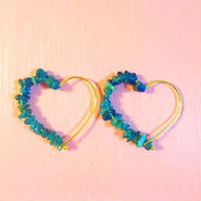 stone heart pierce-Blue-