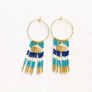 shell beads pierce-blue-