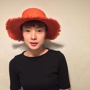 fringeカンカン麦わら帽/RED