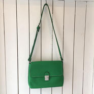 牛革shoulderBAG/green