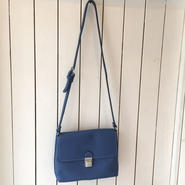 牛革shoulderBAG/bluegray