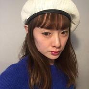 パイピングSUMMERニットベレー帽/white