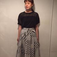 geometricフレアスカート/black