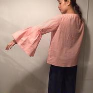 フレアsleeveストライプシャツ/orange