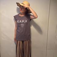 ロゴフレンチtee/NAKA charcoal