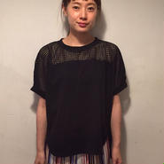 メッシュ切替フレンチtee/black