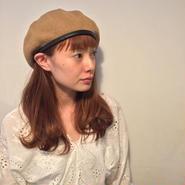 パイピングサマーニットベレー帽/BROWN