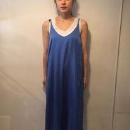 satinキャミワンピ/blue