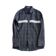 Rhythmor(リズモア)デニム切替チェックシャツ