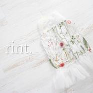 *5月17日12:00発売*お花刺繍チュールワンピース《90~130》