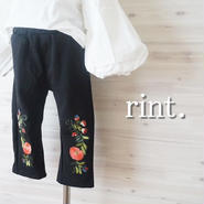 THEN AND THEM  お花刺繍パンツ《90~140》