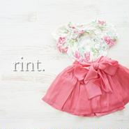 *ラスト2*cotton baby ウエストリボンフレアスカート  ピンク《90・130》