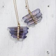 Tanzanite aura×Vintage Swarovzki necklace