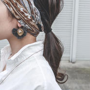 Gemstone fringe earrings K14gf
