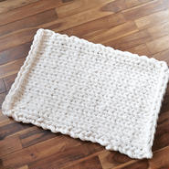 Chunky knit rug <cotton>