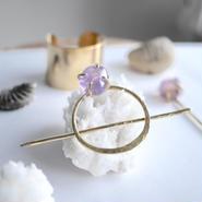 Amethyst hair jewelry