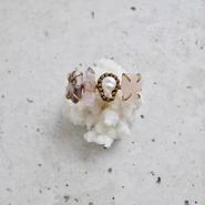 Gemstones bangle「Amethyst×Freshwater pearl」