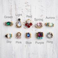 Vintage glass baby earrings