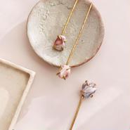 gemstones hair jewelry <Pink Botswana agate>