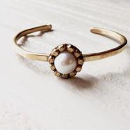 Freshwater pearl bangle