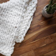 Chunky knit rug<cotton linen>White
