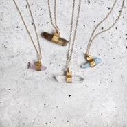 Gem bar necklace