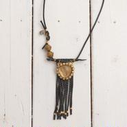 Crocodile×Smoky quartz necklace