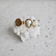 「Smoky quartz×Crystal×Freshwater pearl×Moonstone」Gemstones bangle